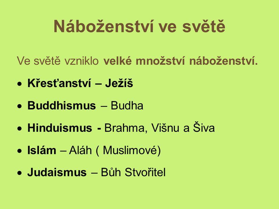 Víra v ČR.U nás je nejrozšířenější náboženství křesťanství.