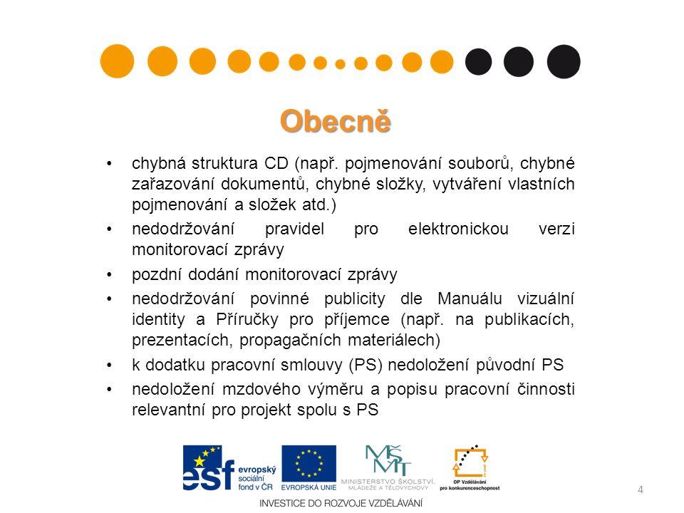 Obecně chybná struktura CD (např.