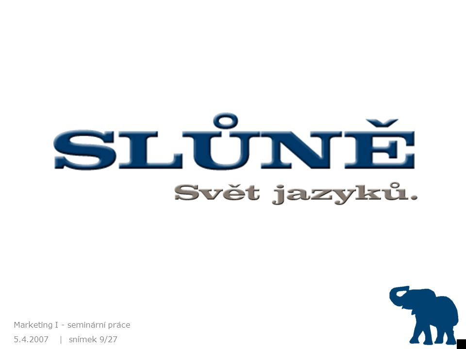 5.4.2007 Marketing I - seminární práce snímek 9/27 Nové logo