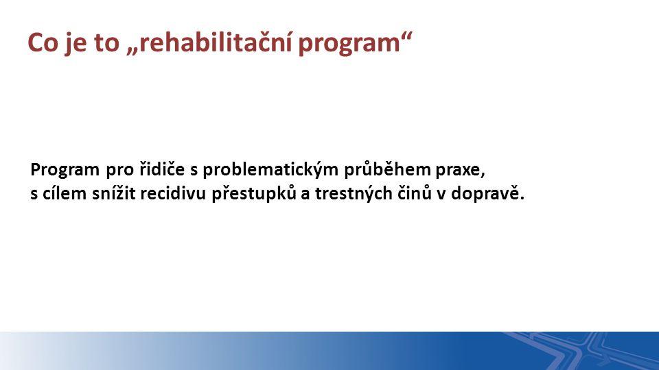 """Program pro řidiče s problematickým průběhem praxe, s cílem snížit recidivu přestupků a trestných činů v dopravě. Co je to """"rehabilitační program"""""""