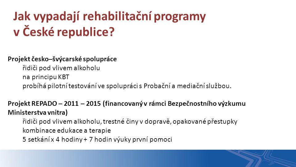 Projekt česko–švýcarské spolupráce řidiči pod vlivem alkoholu na principu KBT probíhá pilotní testování ve spolupráci s Probační a mediační službou. J