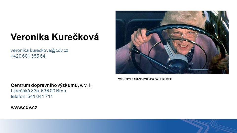 Centrum dopravního výzkumu, v. v. i. Líšeňská 33a, 636 00 Brno telefon: 541 641 711 www.cdv.cz Veronika Kurečková veronika.kureckova@cdv.cz +420 601 3