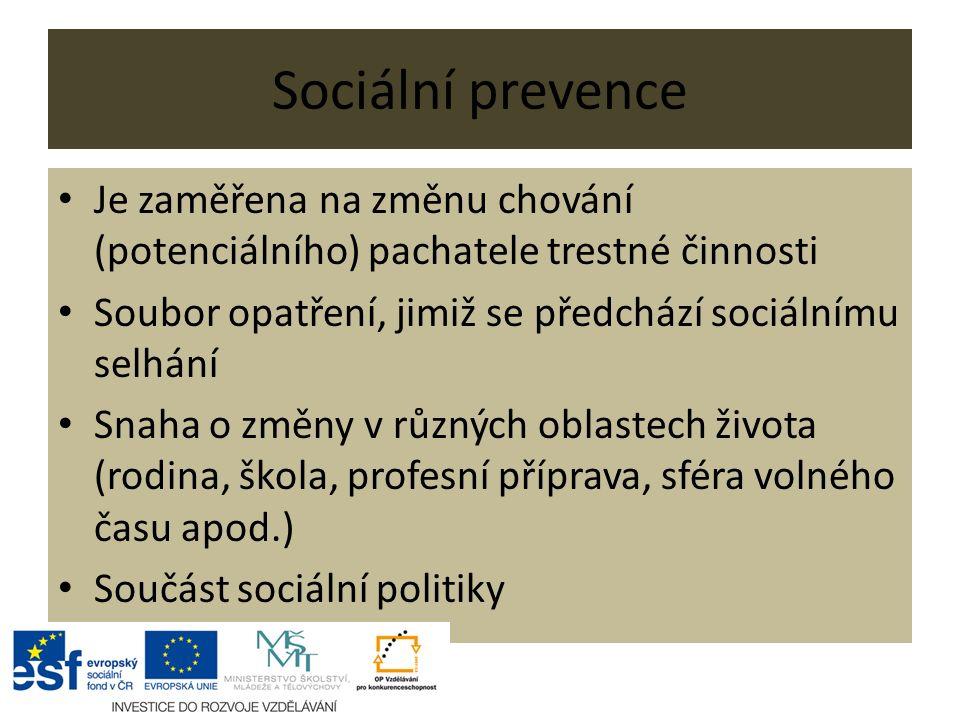 začlenění do sociálního prostředí (resocializace) sociálně-výchovné a poradenství v sociálně právních věcech – např.