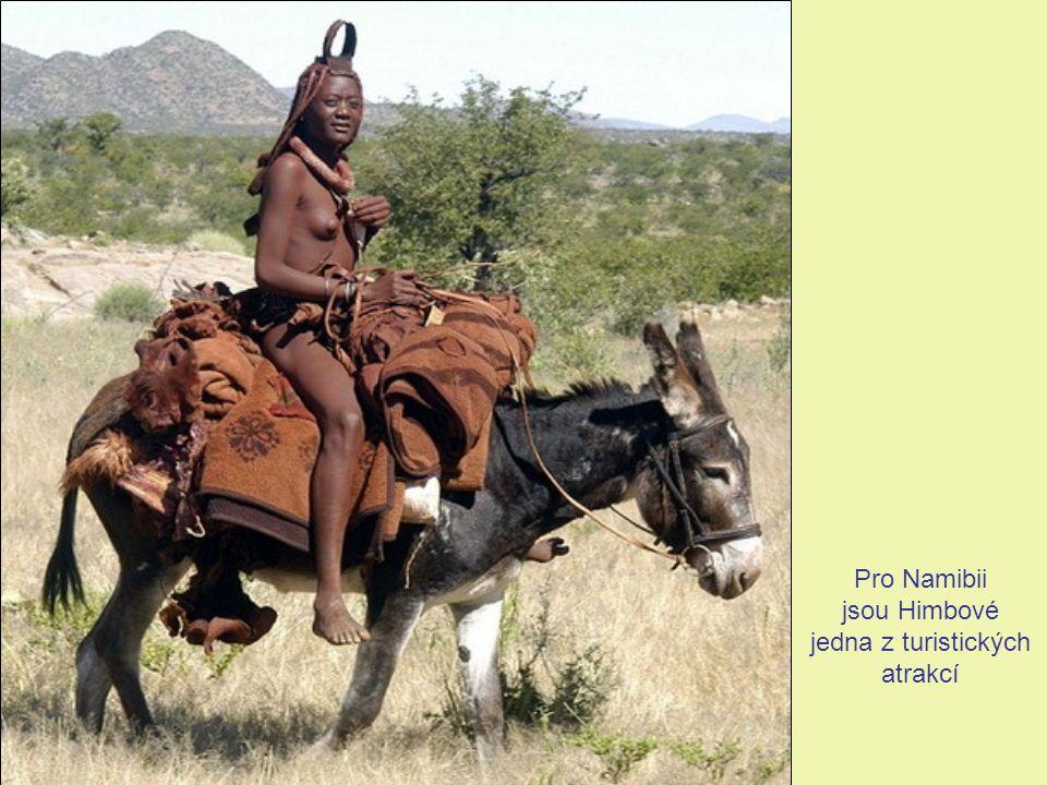 V některých oblastech vlivem styku s bělochy a ostatními obyvateli Namibie dochází u mužů k částečnému ústupu tradičních oděvů a úprav vlasů a jejich nahrazování evropskými