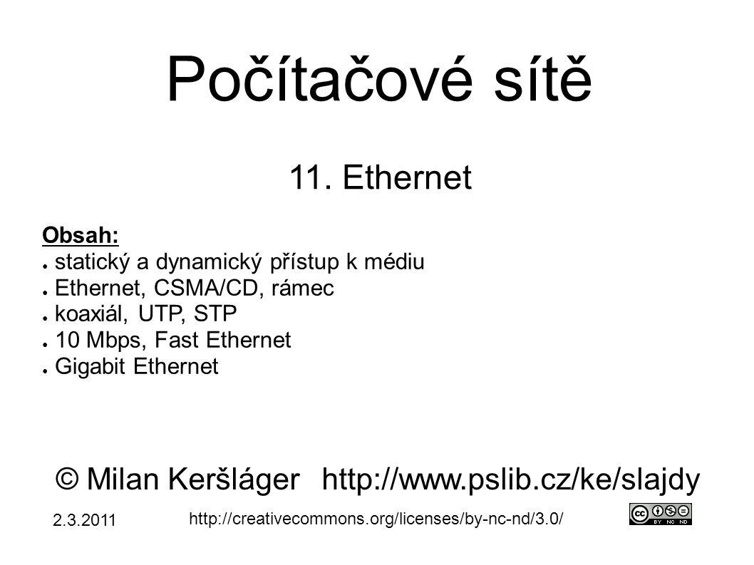 Počítačové sítě 11.