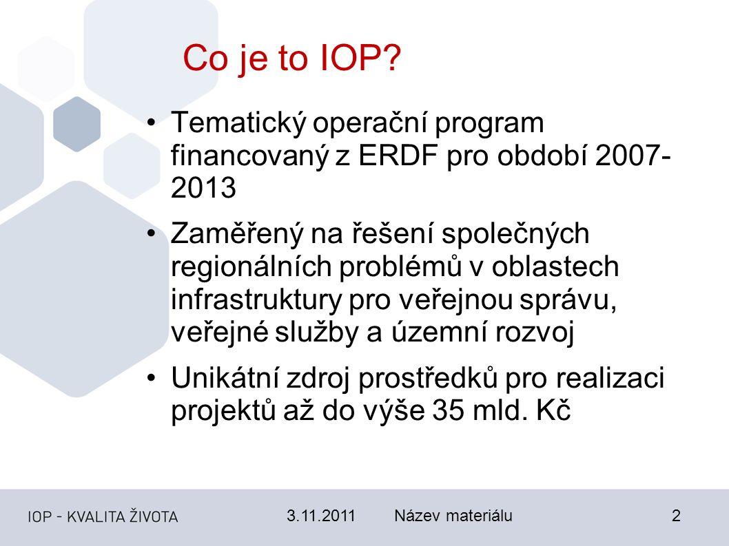 3.11.2011Název materiálu2 Co je to IOP.