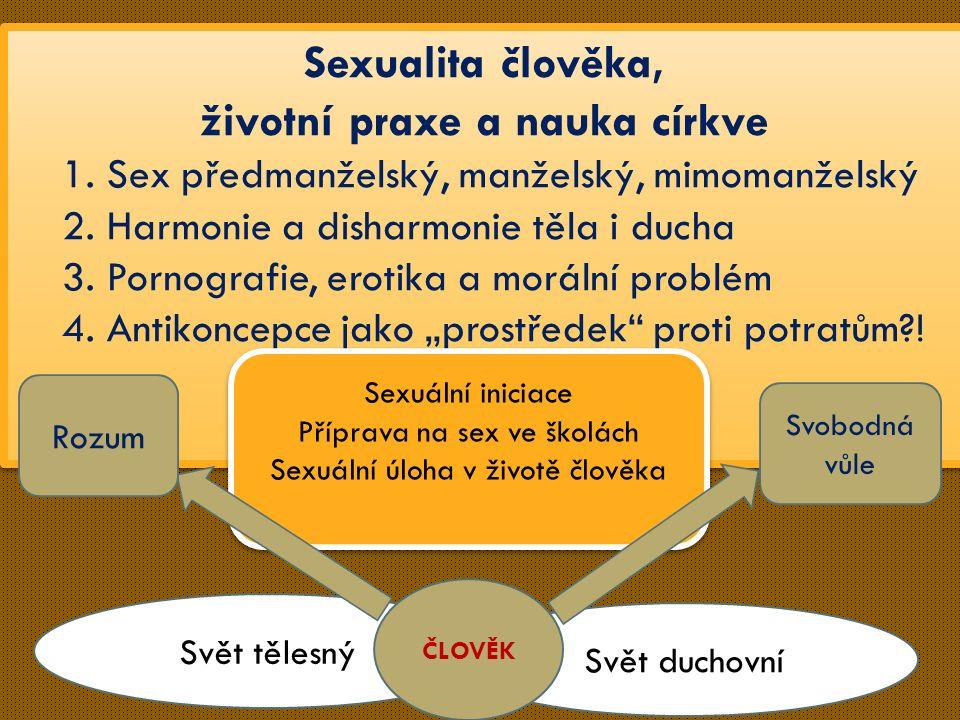 Sexualita člověka, životní praxe a nauka církve 1.