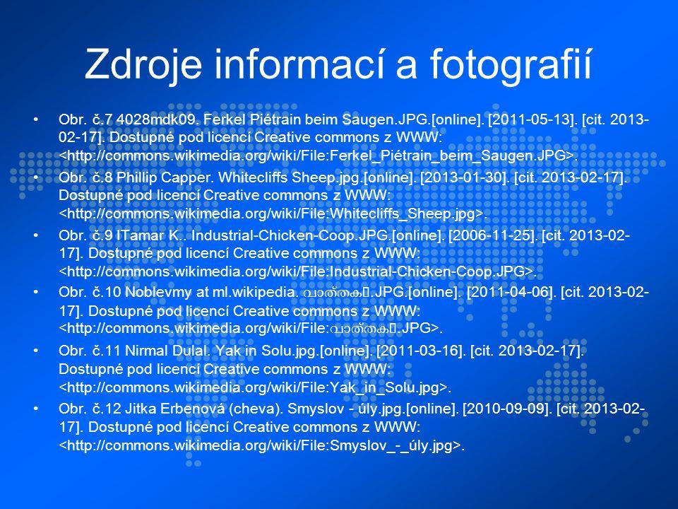 Zdroje informací a fotografií Obr. č.7 4028mdk09.