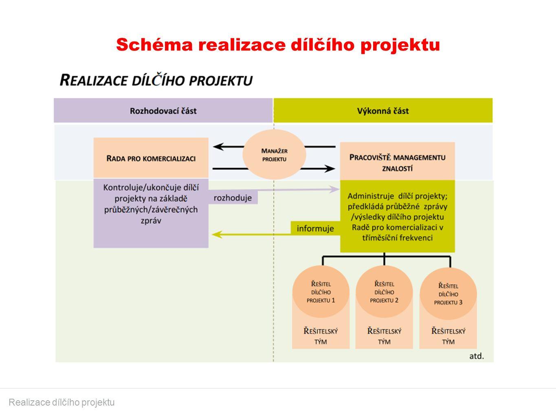 Schéma realizace dílčího projektu Realizace dílčího projektu