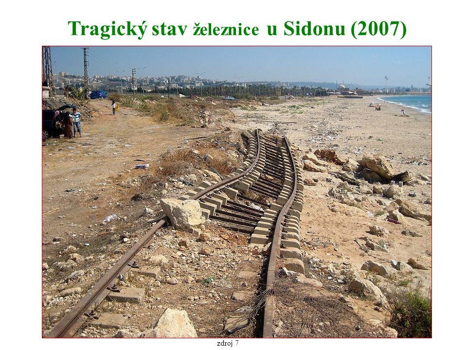 Tragický stav železnice u Sidonu (2007) zdroj 7