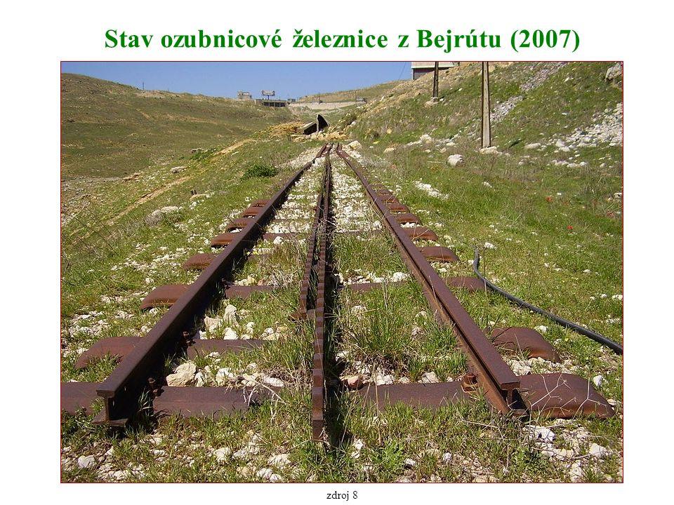 Stav ozubnicové železnice z Bejrútu (2007) zdroj 8