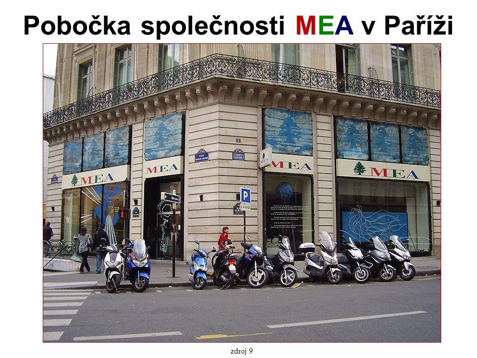 Pobočka společnosti MEA v Paříži zdroj 9