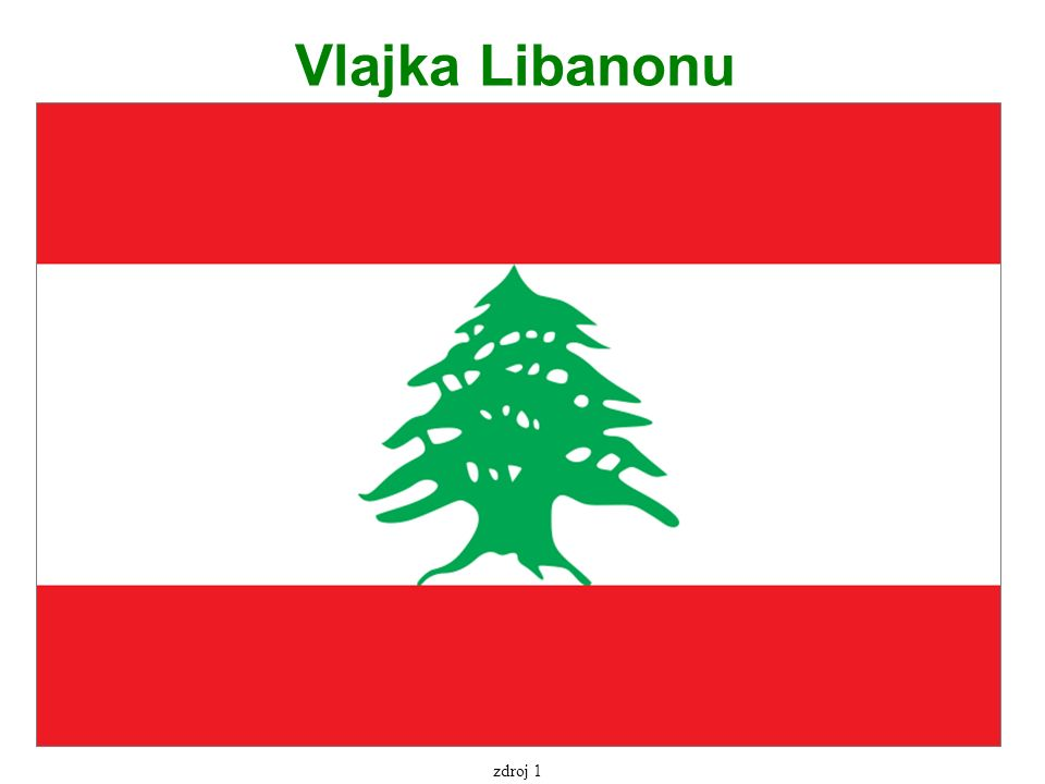 Vlajka Libanonu zdroj 1