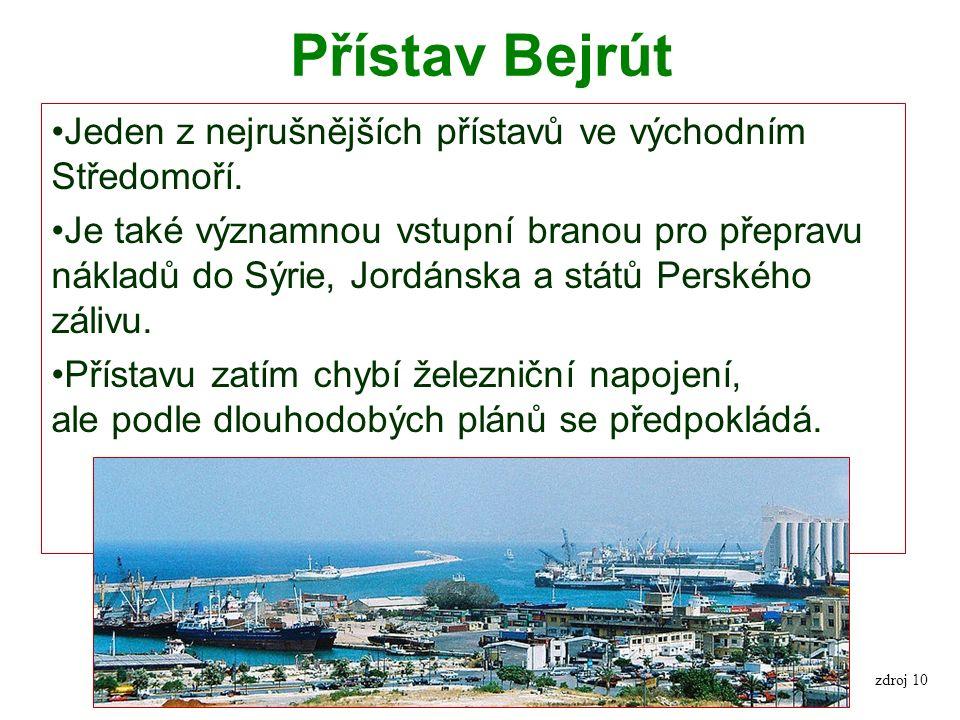 Přístav Bejrút Jeden z nejrušnějších přístavů ve východním Středomoří.