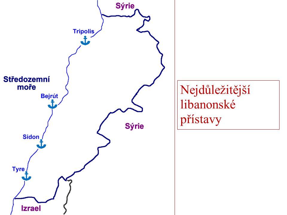 Nejdůležitější libanonské přístavy