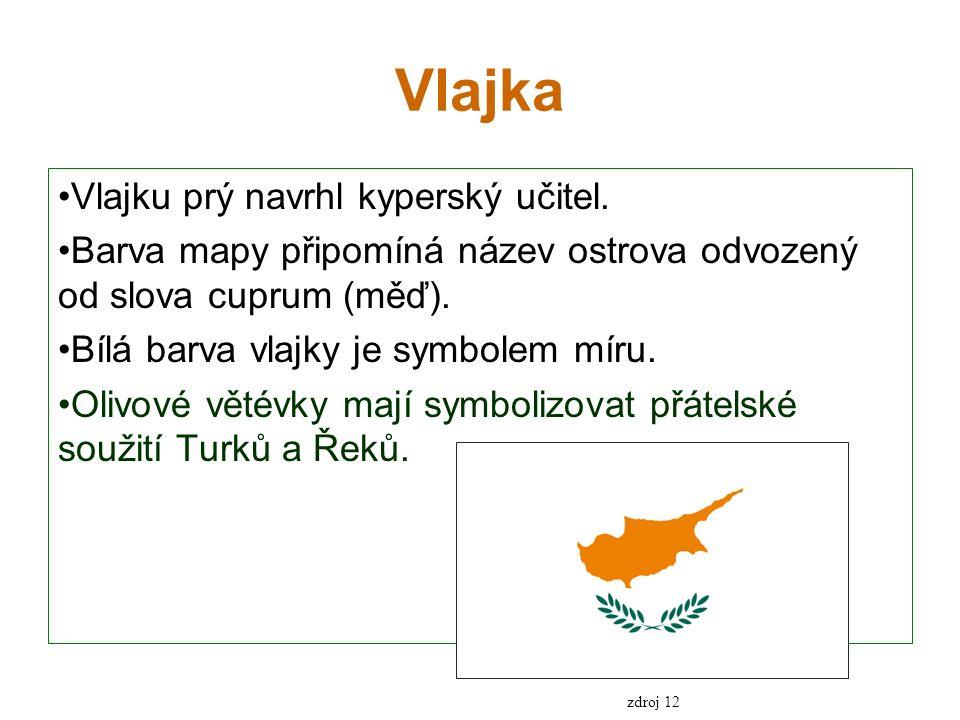 Vlajka Vlajku prý navrhl kyperský učitel.