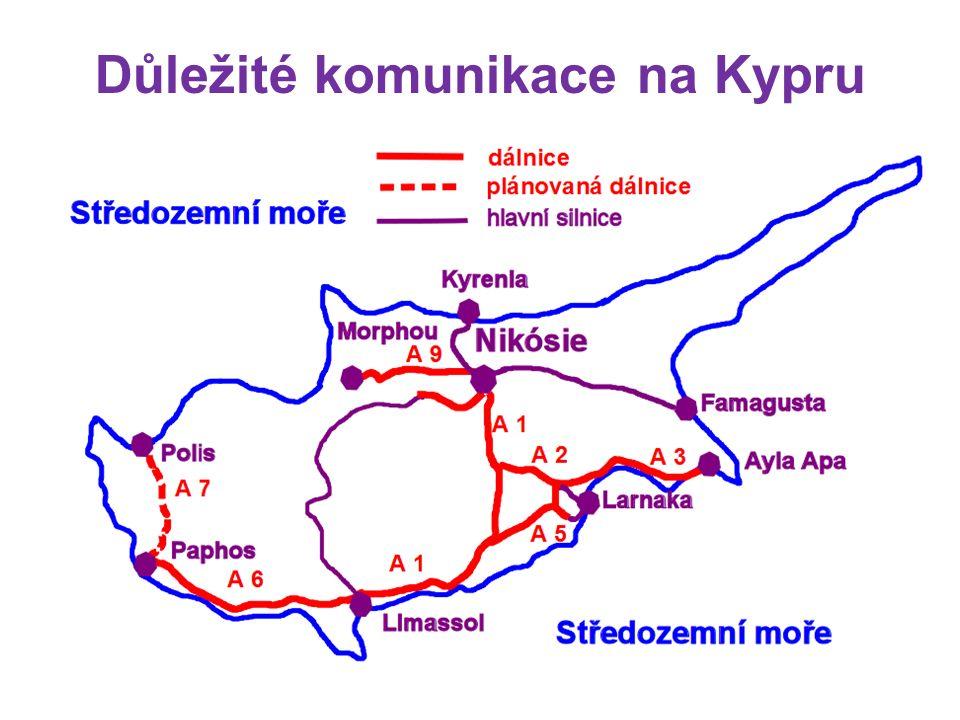 Důležité komunikace na Kypru