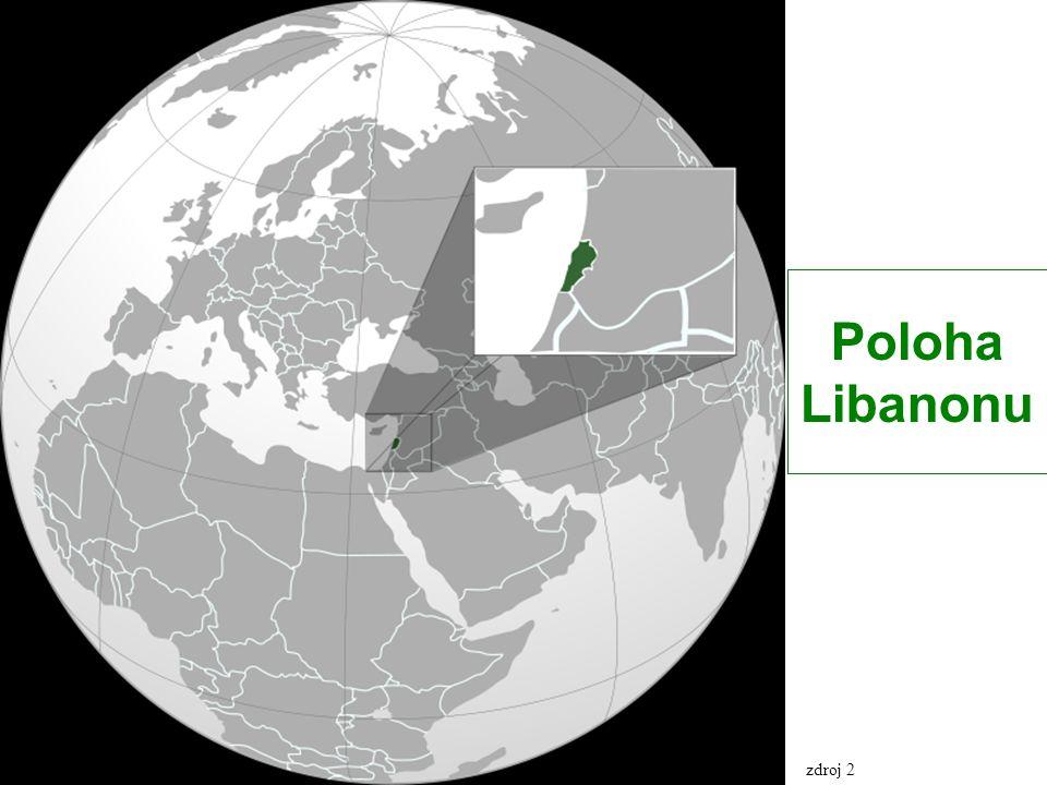 Politická mapa Libanonu zdroj 3