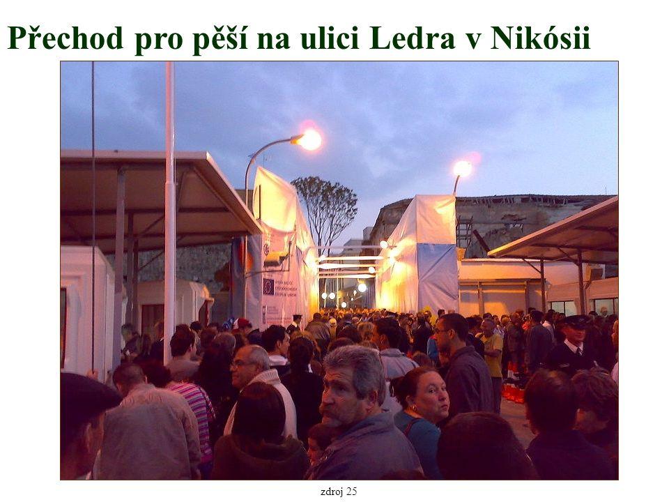 Přechod pro pěší na ulici Ledra v Nikósii zdroj 25