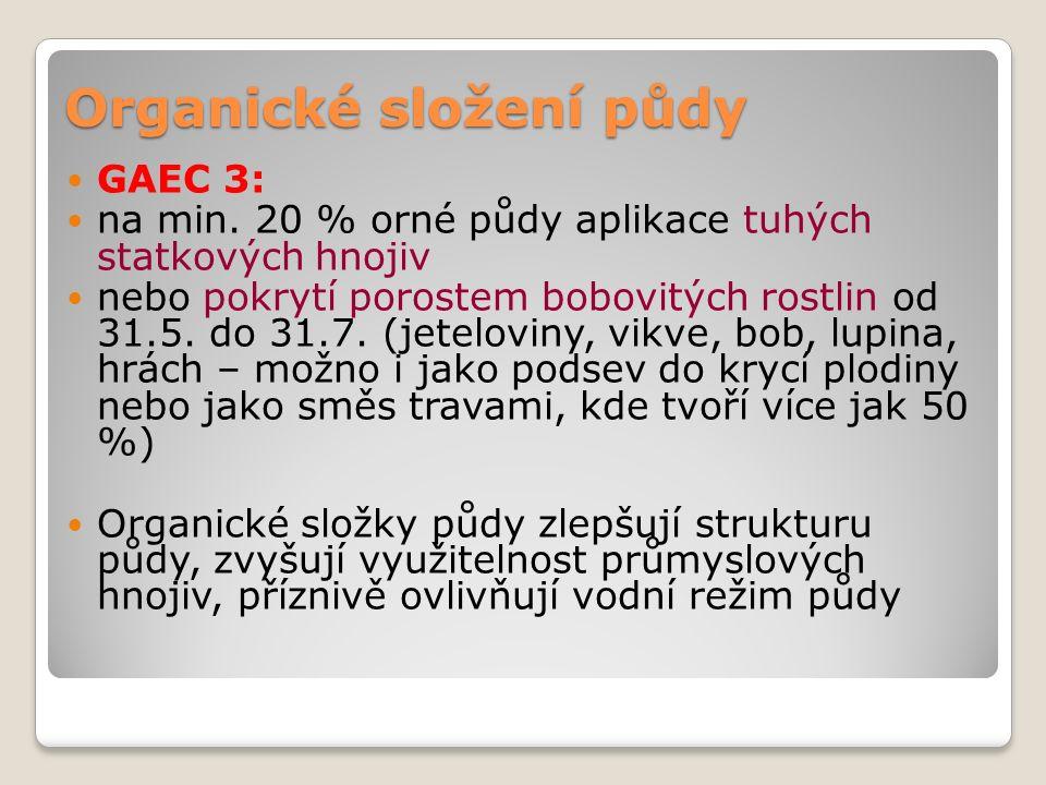 Organické složení půdy GAEC 3: na min.