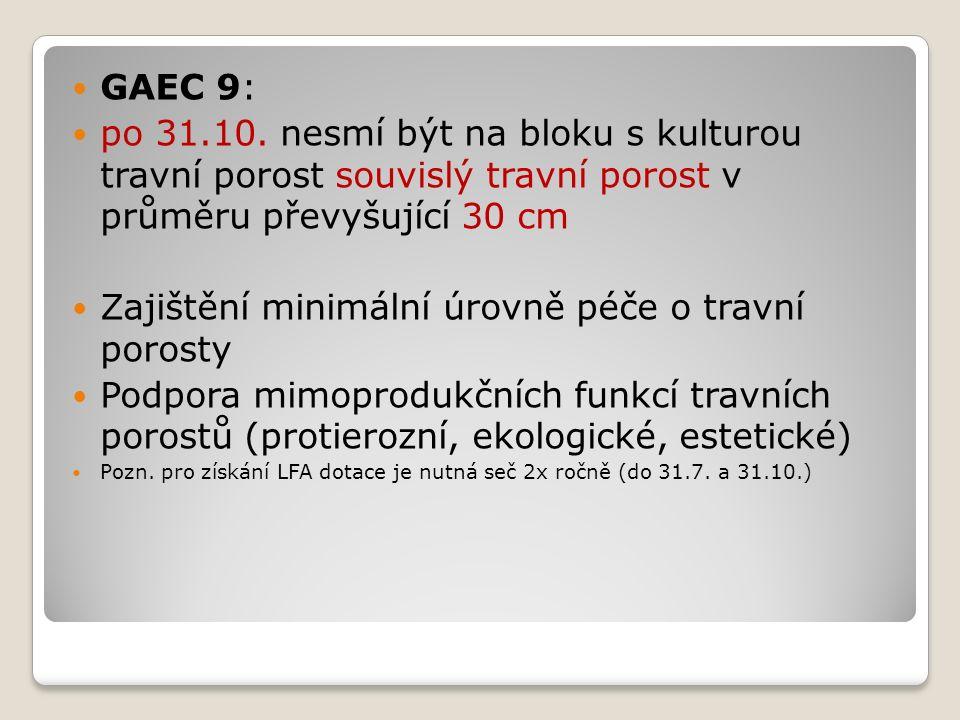 GAEC 9: po 31.10.