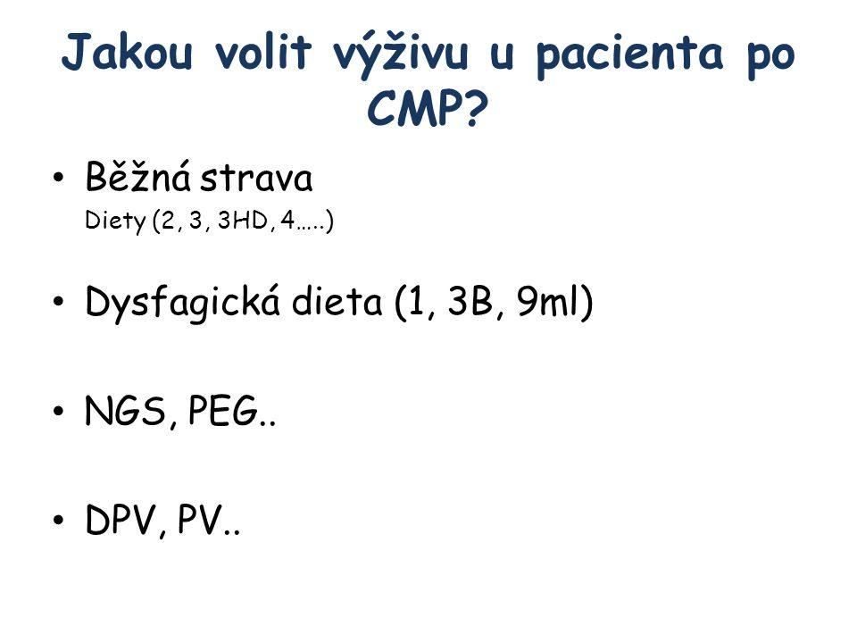 Jakou volit výživu u pacienta po CMP.