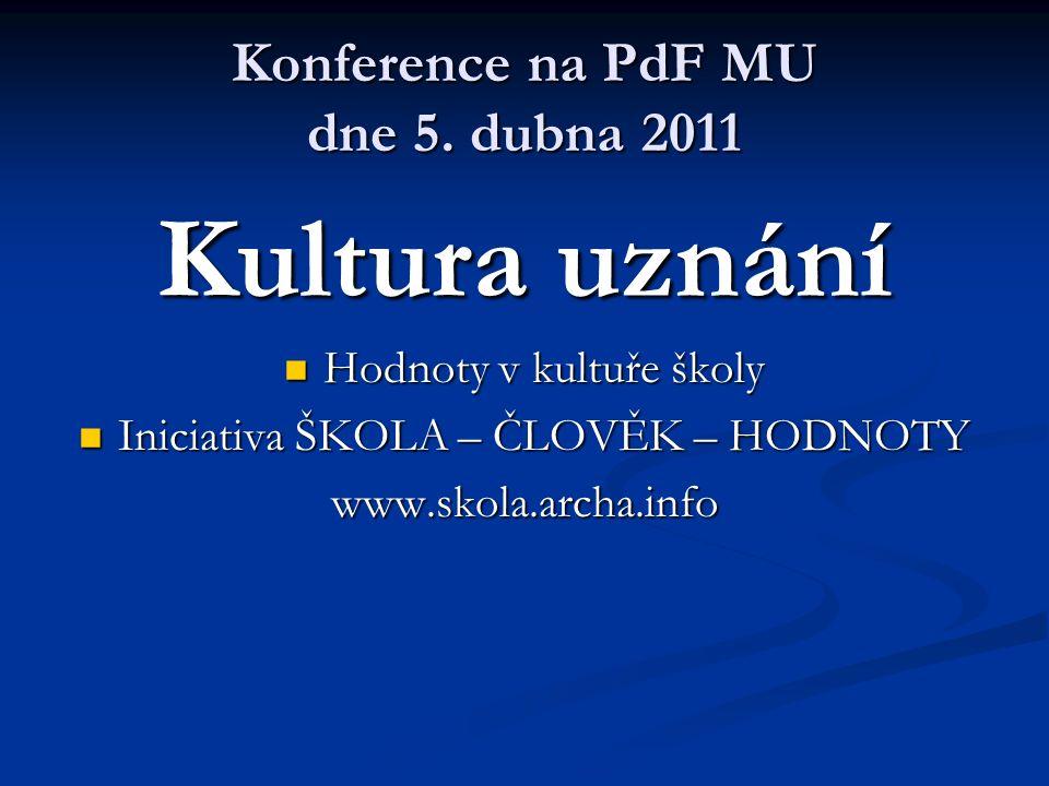 Konference na PdF MU dne 5.