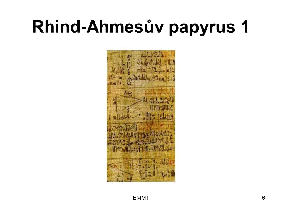 Rhind-Ahmesův papyrus 1 EMM16