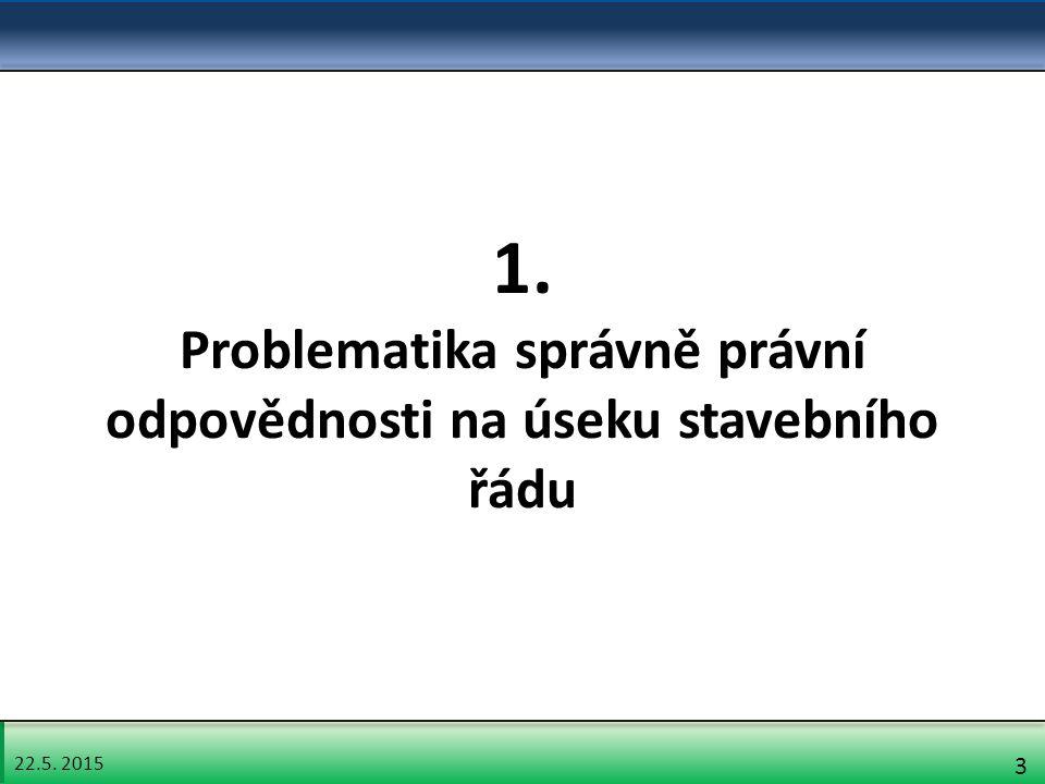 22.5. 2015 3 1. Problematika správně právní odpovědnosti na úseku stavebního řádu
