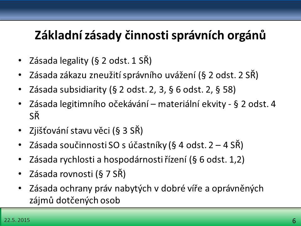 22.5.2015 17 Přestupek Kritéria pro sankce - § 12 odst.