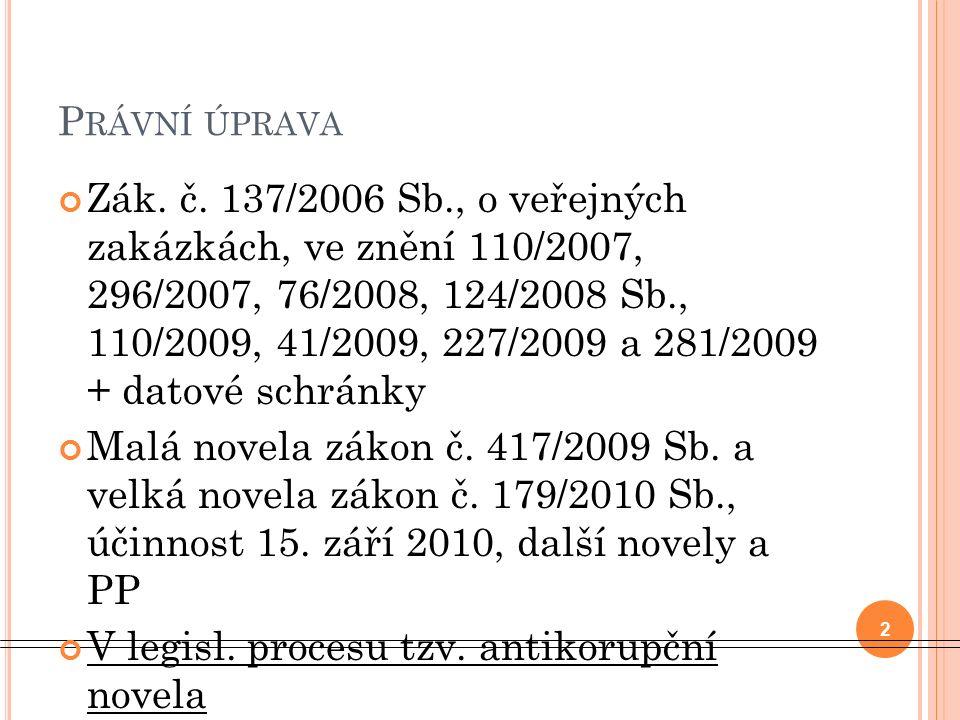 P RÁVNÍ ÚPRAVA Zák. č.