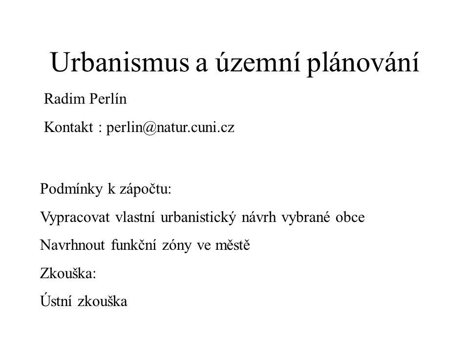 Sylabus Přednáška je zaměřena na historii a současnost územního plánování a urbanistického rozvoje osídlení.
