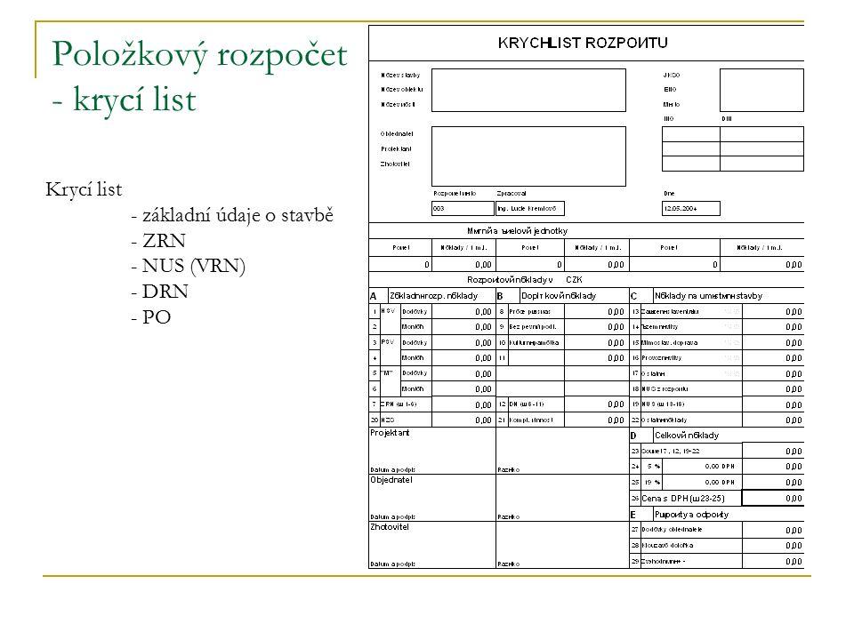 Výkaz výměr přehlednost slovní doprovod převod složitějších těles na jednoduchá výměra = délka x šířka x výška Pravidla pro tvorbu VV: Zásady: podrobně prostudovat projektovou dokumentaci a přečíst technickou zprávu.