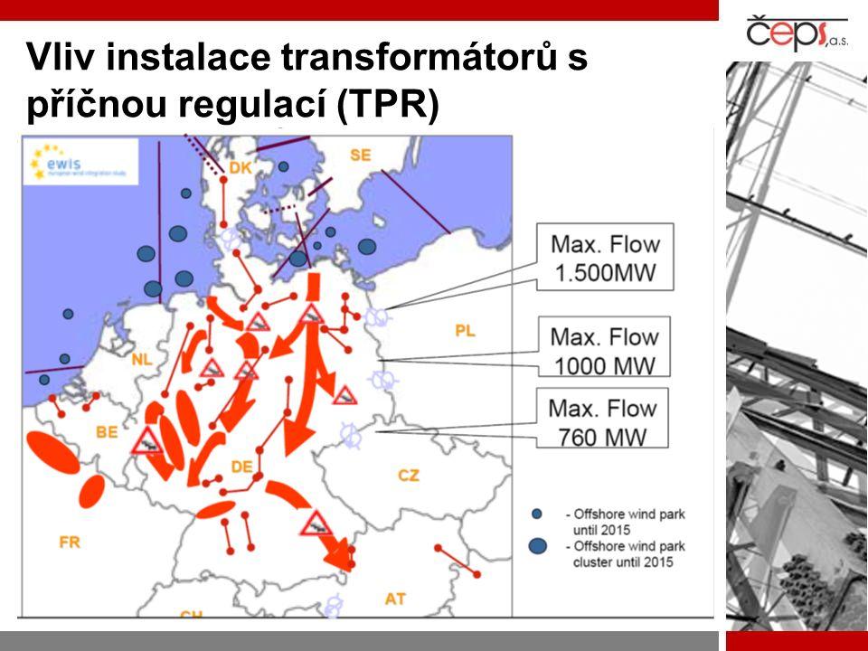 Vliv instalace transformátorů s příčnou regulací (TPR)