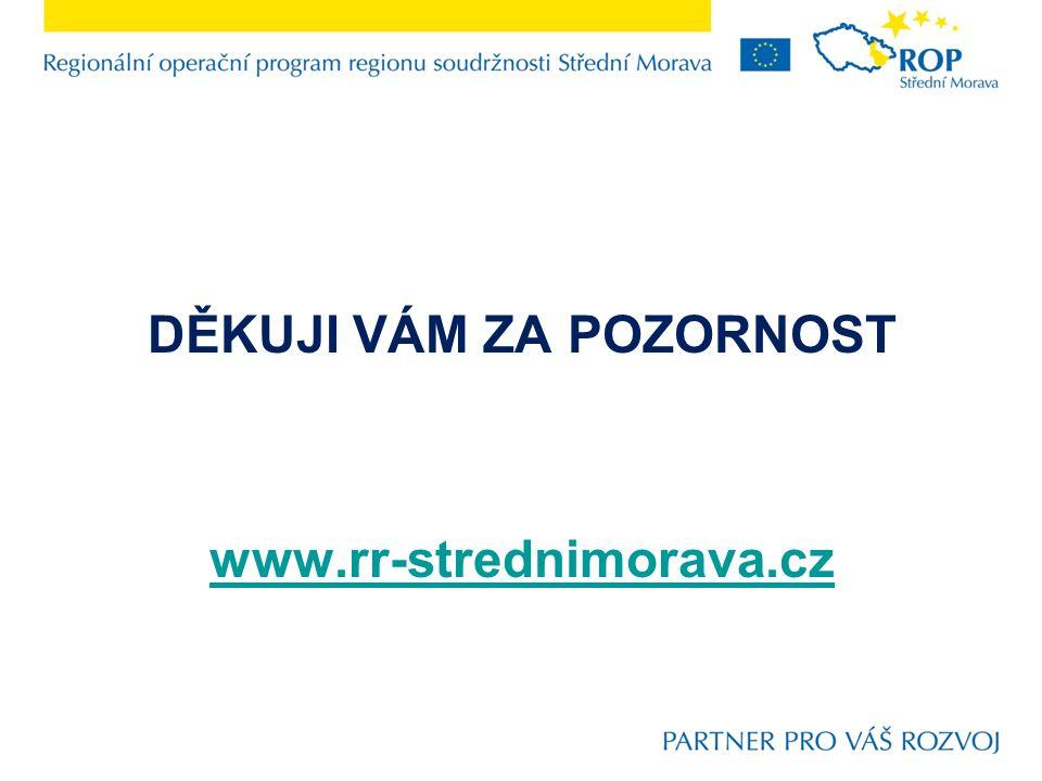 DĚKUJI VÁM ZA POZORNOST www.rr-strednimorava.cz