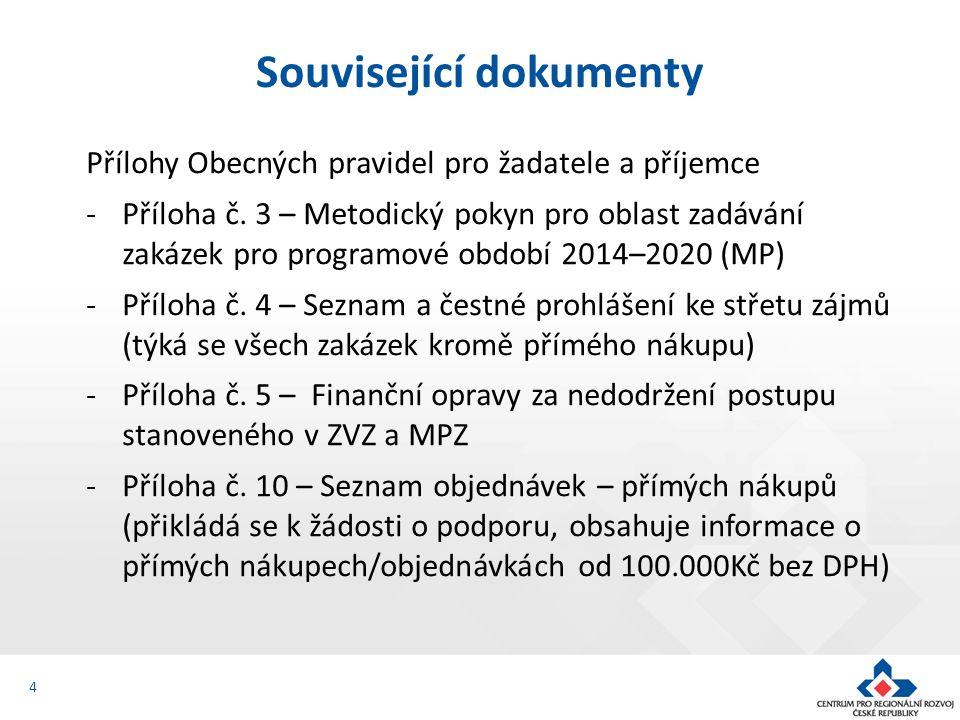 MP stanoví pro veřejného a dotovaného zadavatele následující limity: - méně než 400.000 Kč bez DPH = zakázka nespadající pod pravidla MP, lze realizovat přímý nákup nebo objednávku - od 400.000 Kč bez DPH do 2 mil./6 mil.