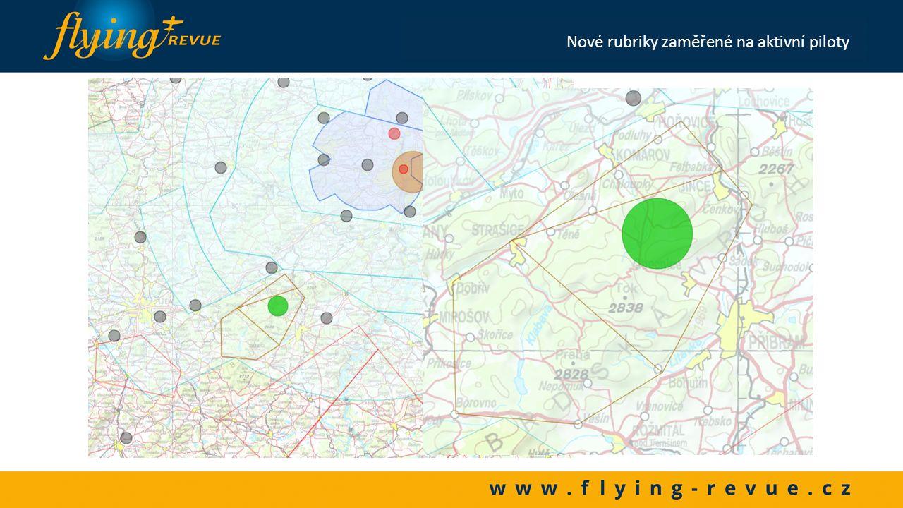 Georeference MĚSTA Nové rubriky zaměřené na aktivní piloty