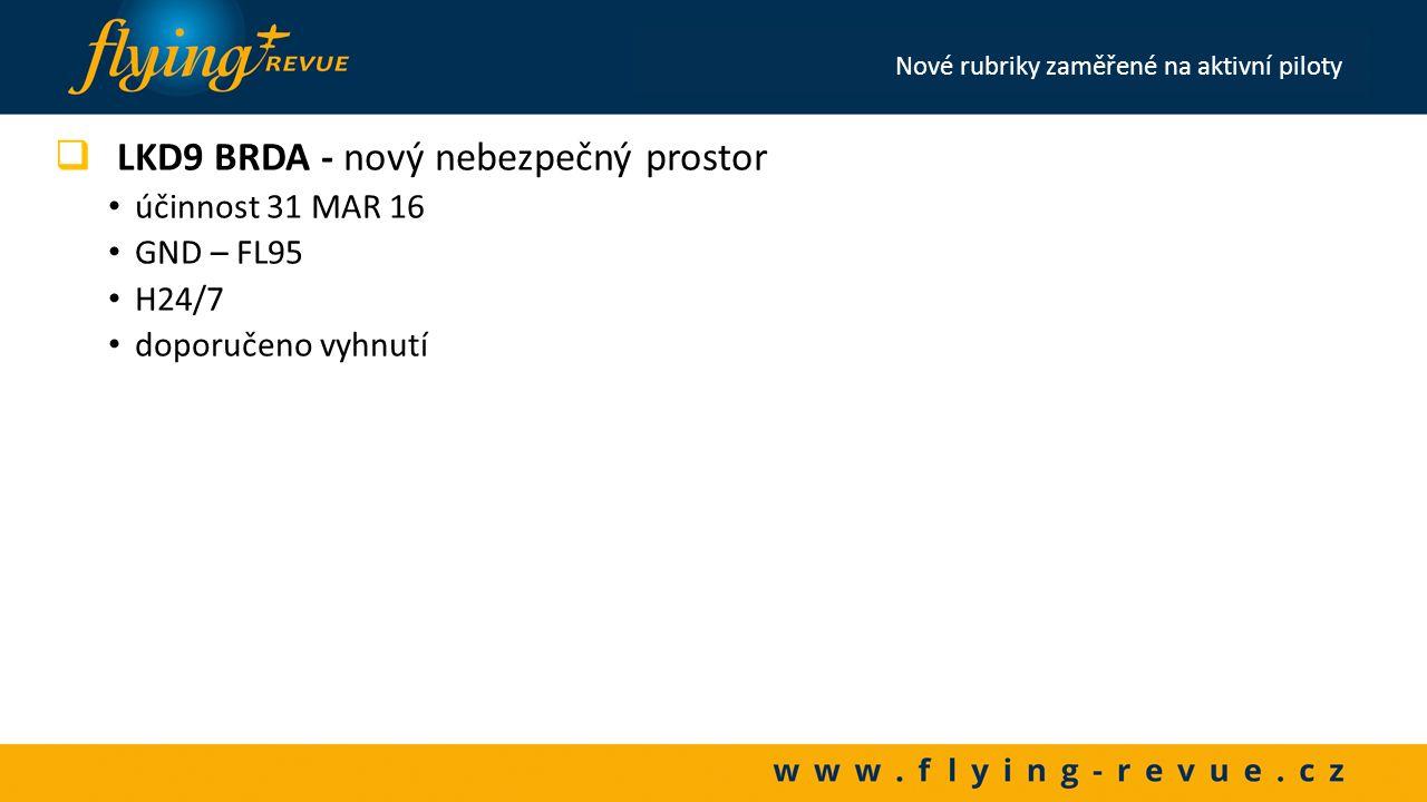 Lety, na které musí být v ČR předložen FPL  Všechny lety IFR a kombinované VFR/IFR a IFR/VFR  Lety VFR  Startující nebo přistávající z vojenských letišť (LKKB, LKCV, LKNA, LKPD)  Lety do zahraničí (výjimkou bez FPL jsou pouze pro lety do Německa; do Polska pouze v hladině VFR s dráhou letu mimo CTR/TMA letišť a přistáním na neřízeném letišti; na Slovensko a to pouze v hladině VFR)  Noční lety VFR  Lety VFR nad FL095 Čas předložení FPL  IFR FPL by měl být v ČR předložen alespoň 3 hod.