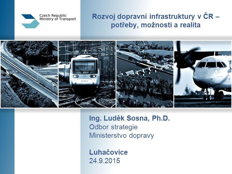 Děkuji za pozornost Ministerstvo dopravy Ludek.sosna@mdcr.cz