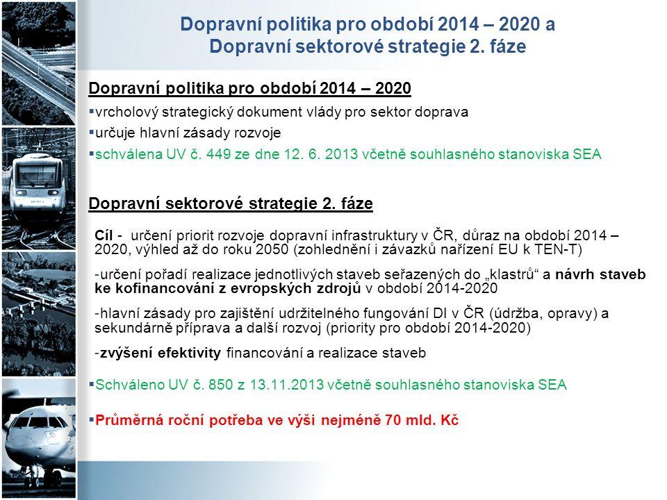Dopravní politika pro období 2014 – 2020 a Dopravní sektorové strategie 2. fáze Dopravní politika pro období 2014 – 2020  vrcholový strategický dokum