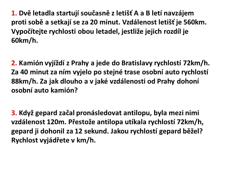 antilopa: Zkouška: gepard: Celková dráha:
