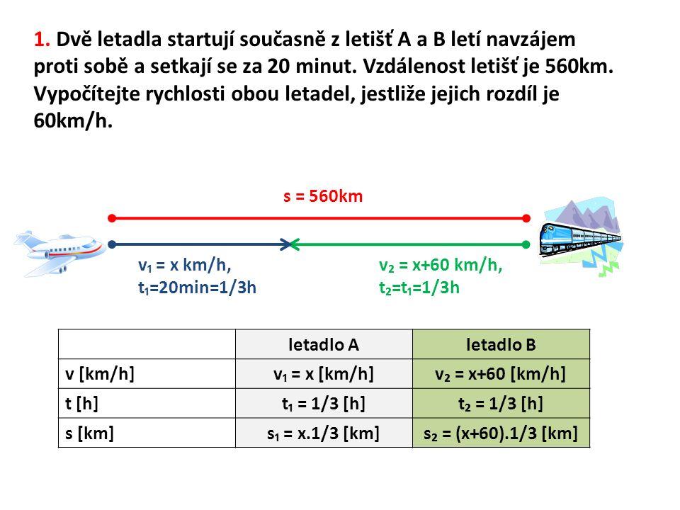 Rychlosti letadel jsou 810km/h a 870 km/h.