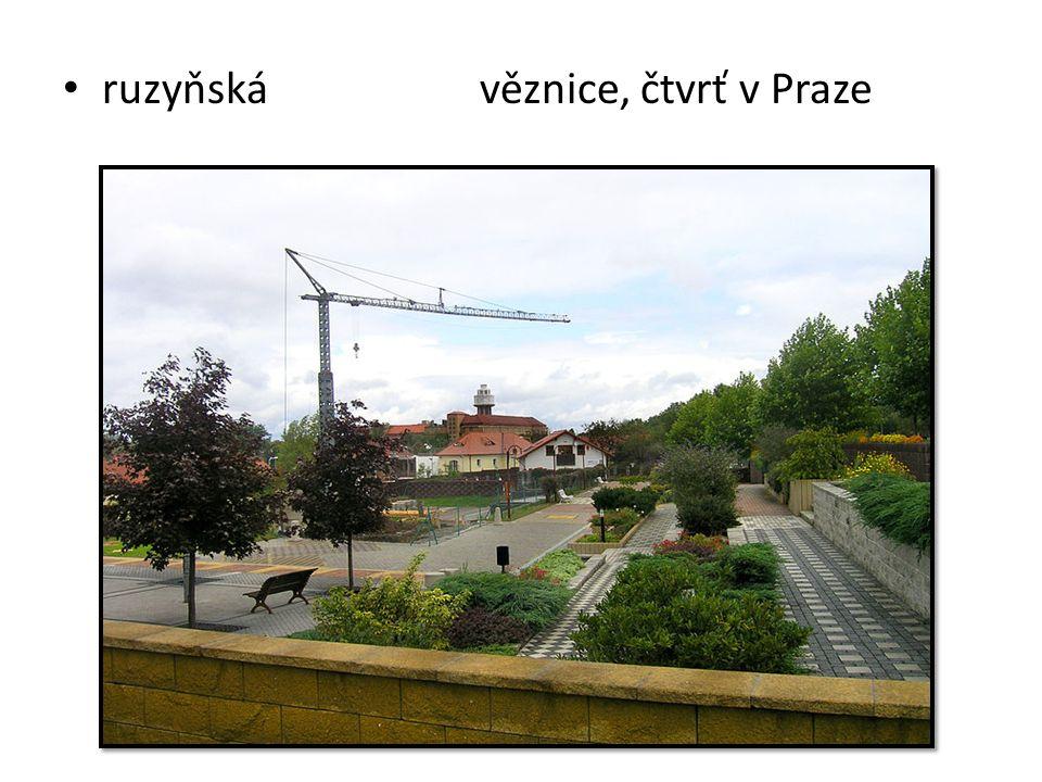 ruzyňská věznice, čtvrť v Praze