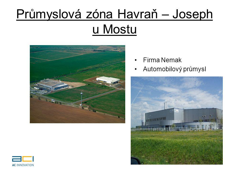Průmyslová zóna Havraň – Joseph u Mostu Firma Nemak Automobilový průmysl