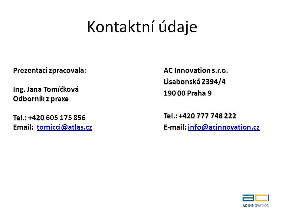 Kontaktní údaje AC Innovation s.r.o.
