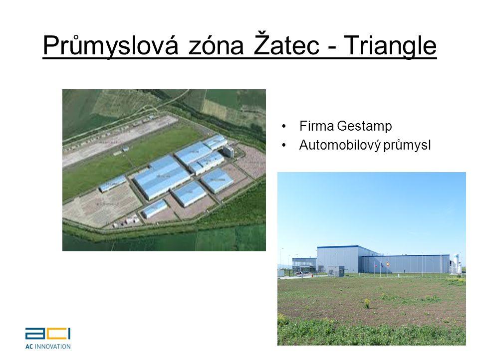 Triangle Strategická zóna.Vybudována na vojenském letišti u Žatce (brownfield).