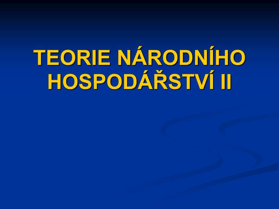 TEORIE NÁRODNÍHO HOSPODÁŘSTVÍ II