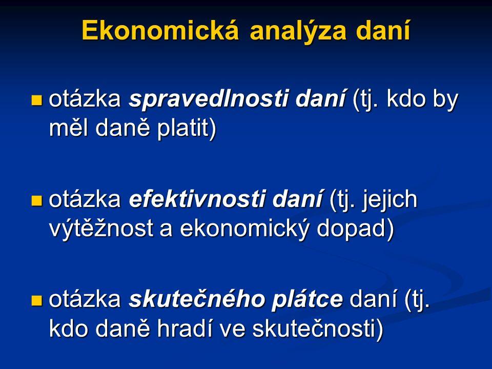 Ekonomická analýza daní otázka spravedlnosti daní (tj.