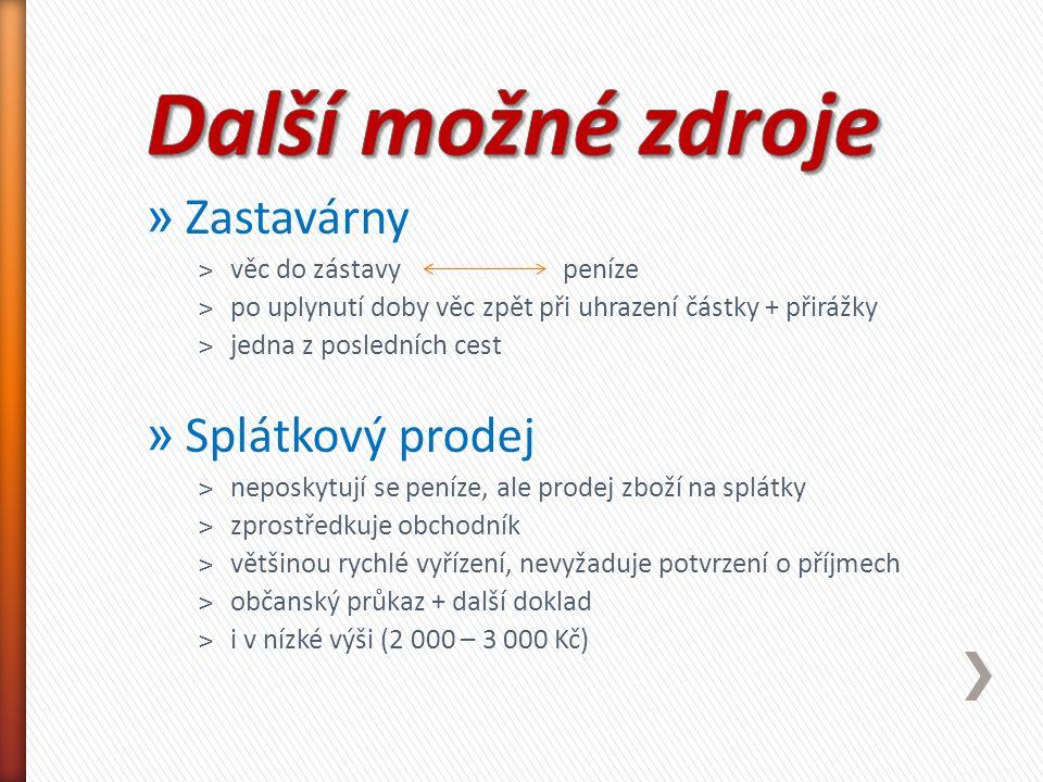Použité zdroje: ČECHOVÁ J.a kol. Ekonomika pro gymnázia.