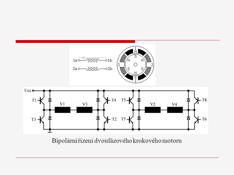 Bipolární řízení dvoufázového krokového motoru